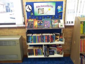 Becky's display at the library - encouraging children to read!